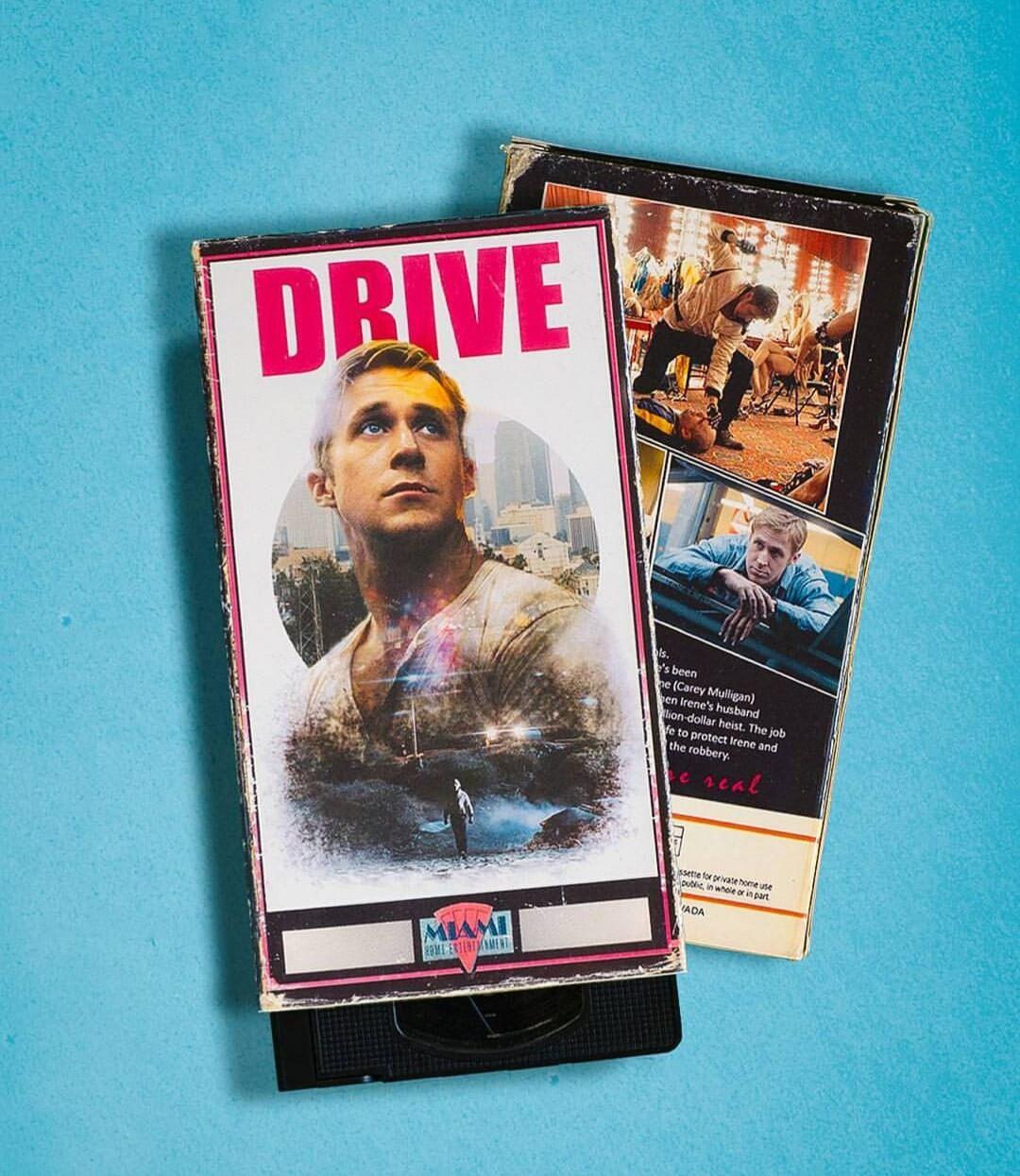 O ator Ryan Gosling agora em VHS.