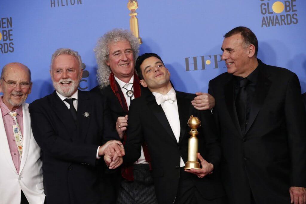 """Rami Malek leva o Globo de Ouro de melhor ator e """"Bohemian Rhapsody"""" de melhor drama"""